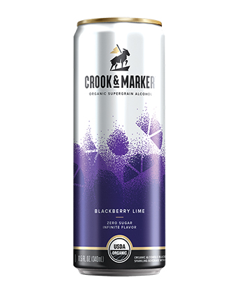 Crook & Marker Spiked & Sparkling Blackberry Lime is one of the best hard seltzers of 2021.