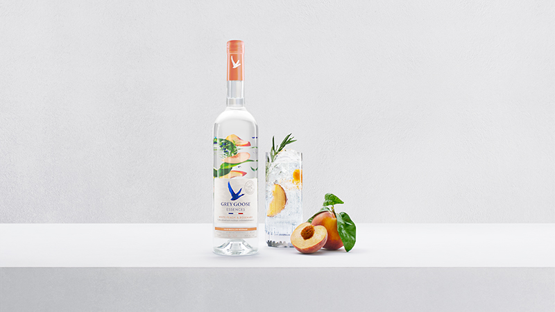 Each serving of GREY GOOSE® Essences White Peach & Rosemary arrives with no sugar, no carbs, and only 73 calories per serving*.