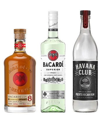 Learn the difference between Bacardi and Havana Club rums.