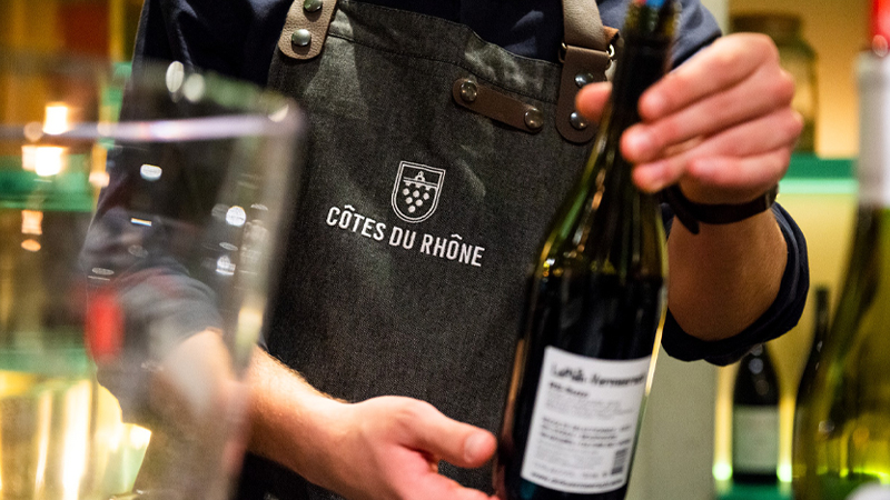 In a typical Côtes du Rhône red, you'll have the GSM mix of Grenache, Syrah, and Mourvèdre, plus Cinsault and Carignan.