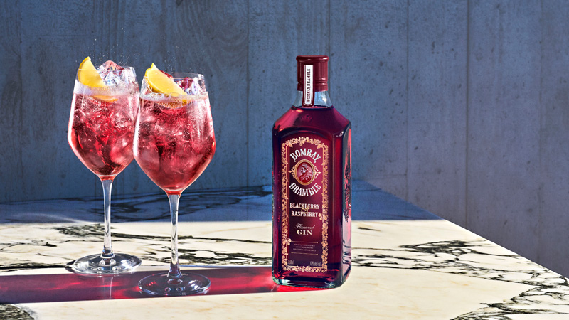 Crafting a memorable cocktail with Bombay Bramble is as simple as topping 1.5 ounces of the spirit with a top-shelf tonic and adorning your glass with all your favorite garnishes.