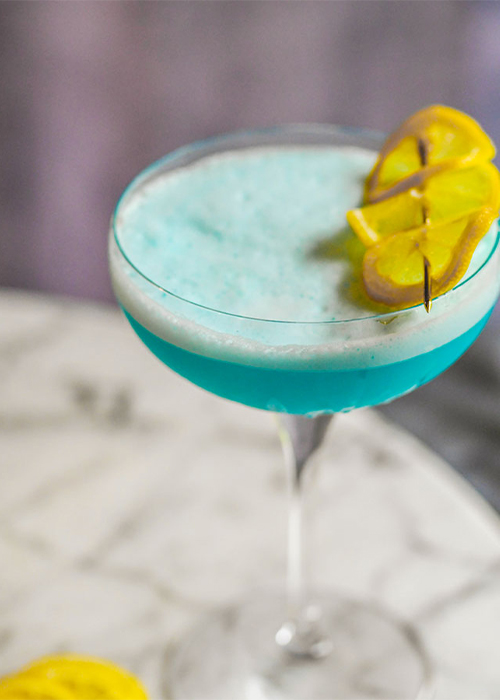 The Blue Lagoon is one of the most popular vodka cocktails