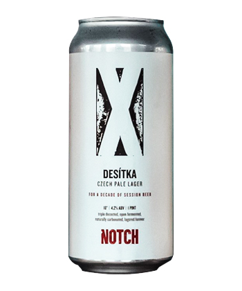 Notch Brewing Desítka is one of the best pilsners ranked by brewers.
