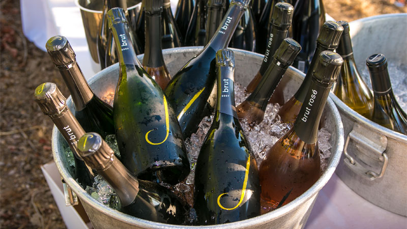Crafting a dozen different Traditional Method sparkling wines, J has a style to fit every taste.