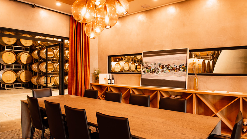 The Walls Tasting Room is one of the wine tasting rooms using fresh decor to attract millenials.