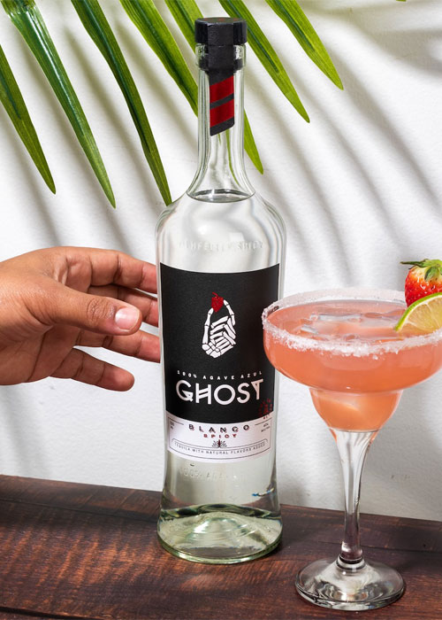 Ghost Tequila is an example of flavored spirits.