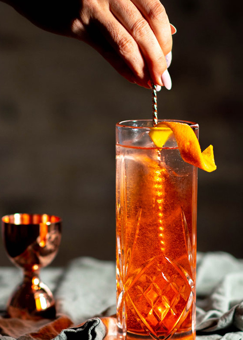 The Citrus Highball is one of the best bitter cocktails for any occasion.