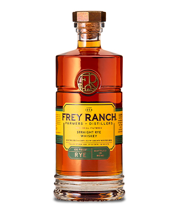 Frey Ranch Is one of the best Rye Whiskey Brands of 2021