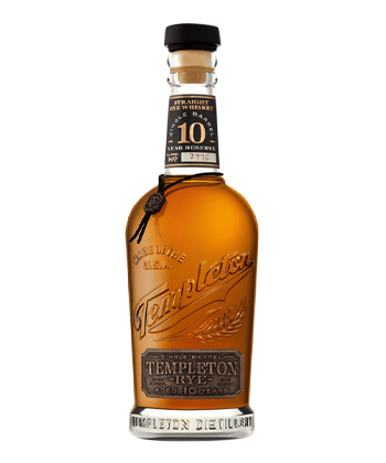 Templeton 10 Year Reserve Is one of the best Rye Whiskey Brands of 2021