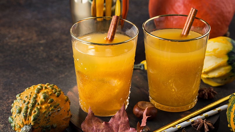 This Fall, try the Cinnamon Stick-Up cocktail by using Tanqueray.