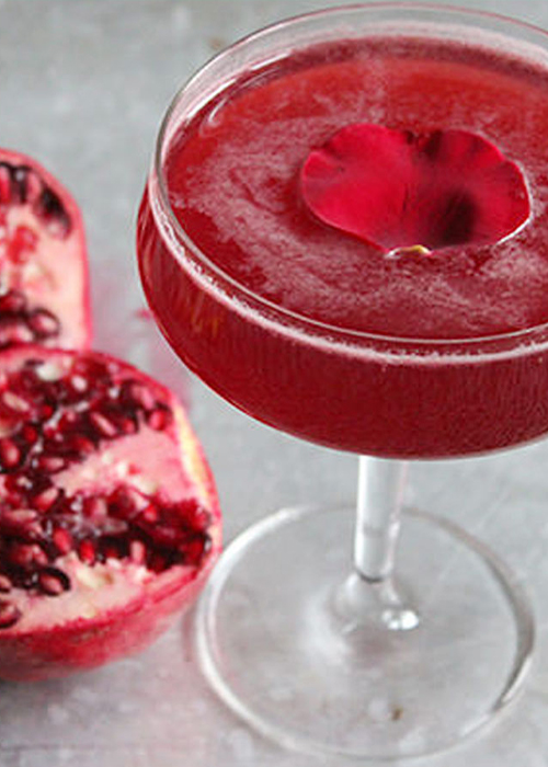 The Rose and Pomegranate Cocktail is one of the best vodka cocktails for fall