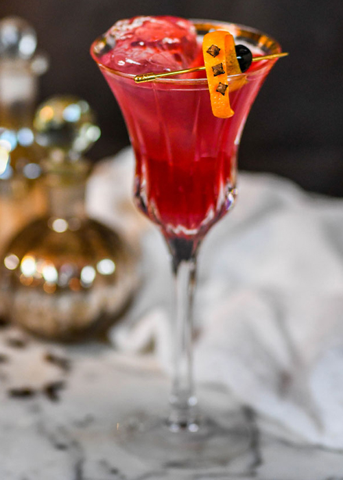 The Twisted Holiday Cosmo is one of the best vodka cocktails for fall