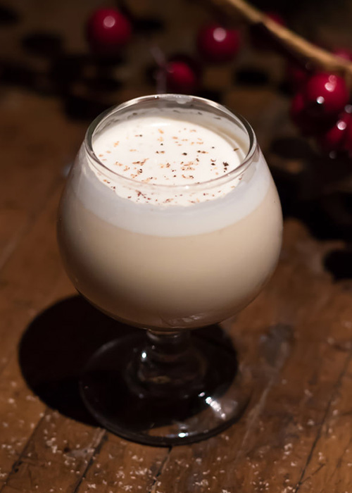 The Frozen Egg Nog is a great sweet cocktail for dessert sipping.