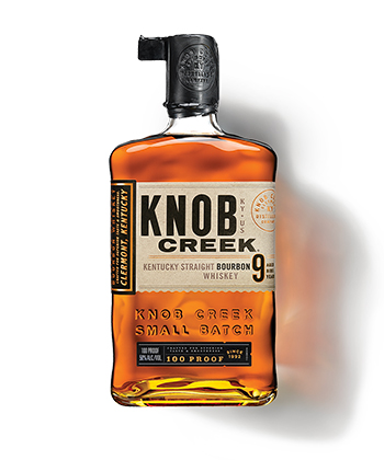 Knob Creek is a great bourbon for beginners.