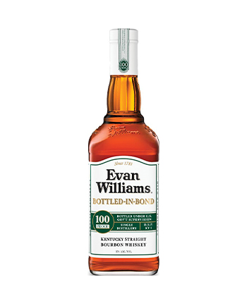 Evan Williams Bottled-in-Bond is one of the most underrated bourbons of 2021.