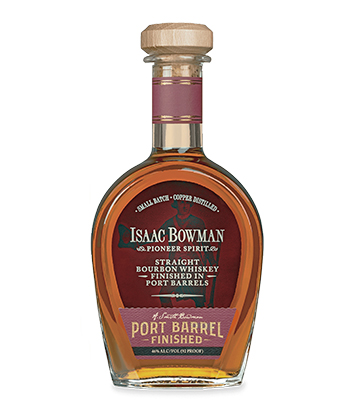 Isaac Bowman Port Barrel Aged Bourbon is one of the most underrated bourbons of 2021.