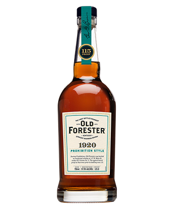 Old Forester 1920 is one of the most underrated bourbons of 2021.