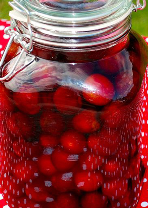 Cherry Bounce is made with Wisconsin cherries and a spirit of one's choice