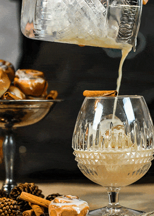 The Cinnamon Bun Sipper is a great sweet cocktail for dessert sipping.