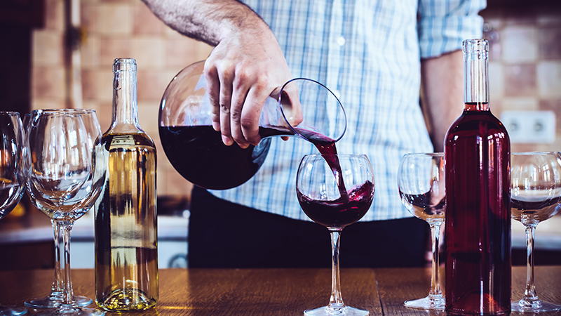 This is the difference between a wine and whiskey decanter